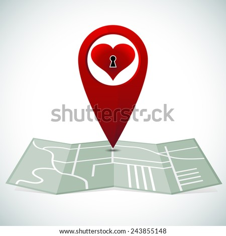 An image of searching for love. - stock vector