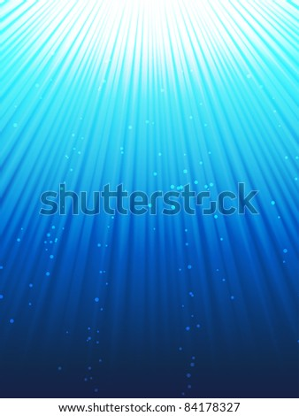 An image of some nice under water rays - stock vector