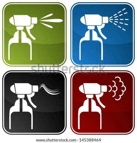 An image of spray bottle icons.