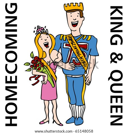 An image of the homecoming king and queen.