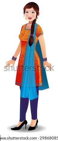Churidar dress image clipart