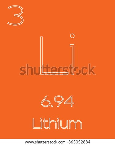 An Informative Illustration of the Periodic Element - Lithium - stock vector