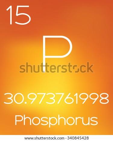 An Informative Illustration of the Periodic Element - Phosphorus - stock vector