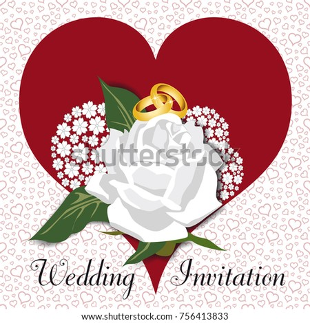 Invitation card traditional wedding on white stock vector 2018 an invitation card for a traditional wedding on a white background with a pattern of stopboris Image collections