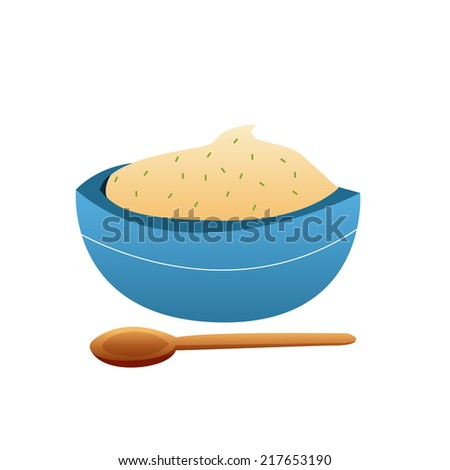 Mashed Potatoes Bowl an Isolated Bowl of Mashed