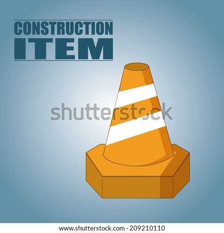 an isolated cone on a blue background with text