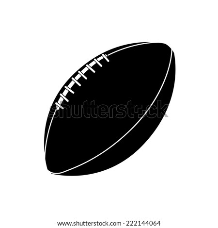 an isolated football ball on a white background - stock vector