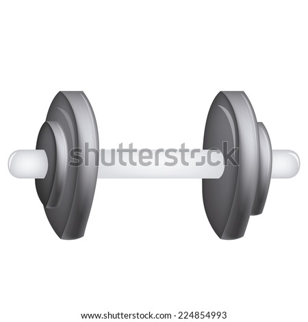 an isolated grey weight on a white background