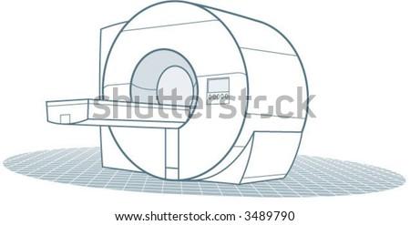 An MRI machine - stock vector