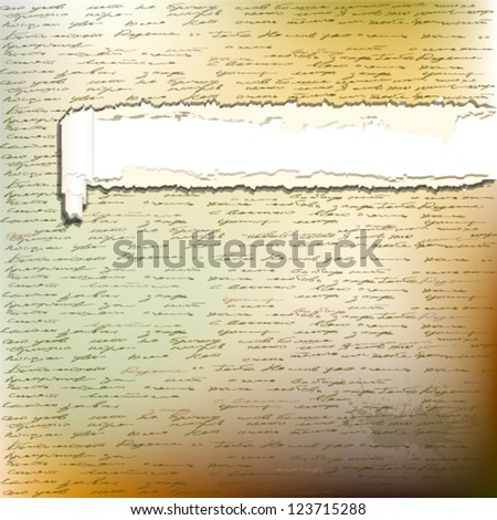 an old letter - stock vector