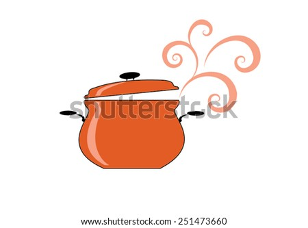 An open cooking or recipe book with healthy food ingredients above. - stock vector