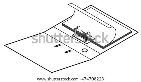 An open lever arch file with some paper.