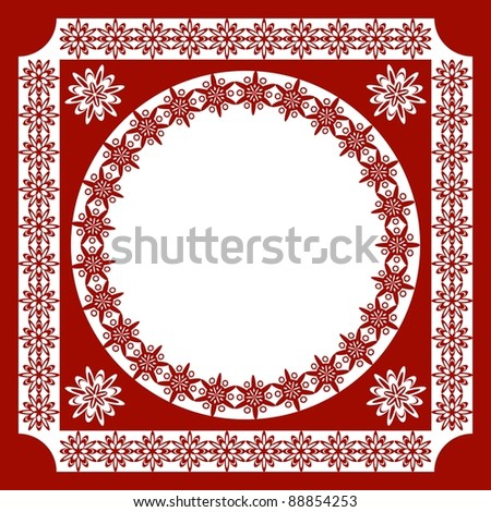 An openwork pattern of ethnic style. frame - stock vector