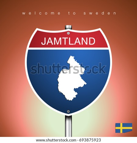 Jämtland Stock Images RoyaltyFree Images Vectors Shutterstock - Jamtland sweden map