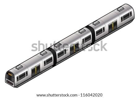 An urban commuter train. - stock vector