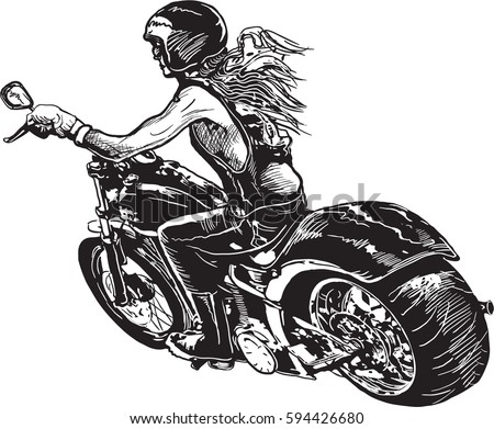 motorcycle comic stock images  royalty free images Black and White Santa Claus Bernie Sanders Vector
