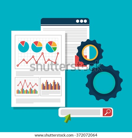 Analitycs search information - stock vector