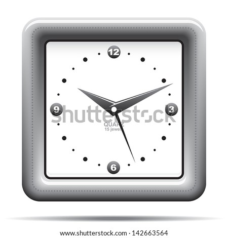 analog clock icon - stock vector