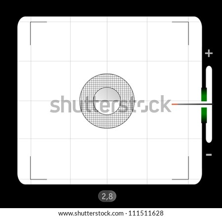 analog medium format viewfinder screen, with free space for your pics, vector - stock vector