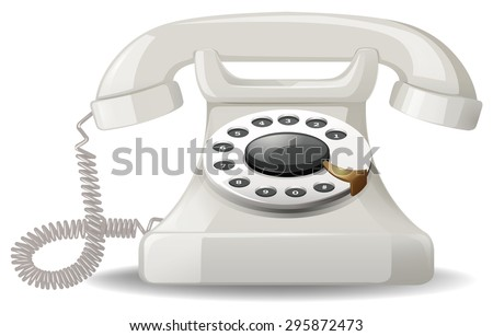 Analog telephone with simple design