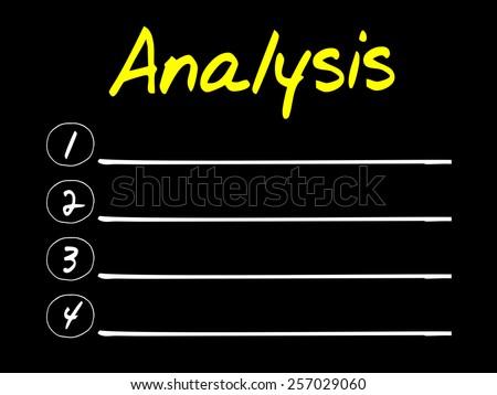 ANALYSIS blank list, business concept - stock vector
