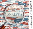 ANALYSIS. Seamless word collage. Vector illustration. - stock photo