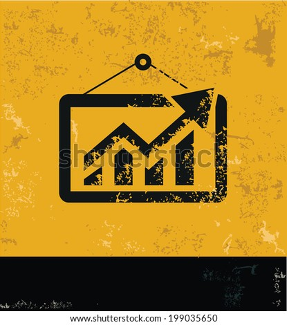Analysis symbol,grunge vector - stock vector