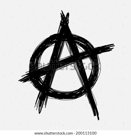 Anarchy symbol drawing. - stock vector