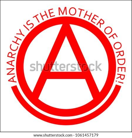 Anarchy Symbol Text Slogan Stock Vector 1061457179 Shutterstock