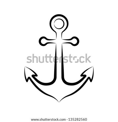 Anchor icon - stock vector