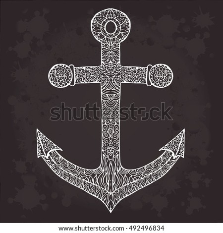 Anchor on black background. Anchor isolated. Anchor decoration. Anchor vector. Anchor symbol. Anchor icon. Anchor logo. Anchor art. Anchor travel. Anchor illustration. Anchor design. Anchor nautical.