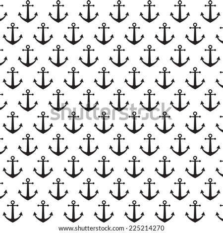Anchor pattern background - stock vector