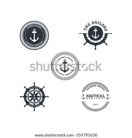 anchor sailor - nautical symbol theme