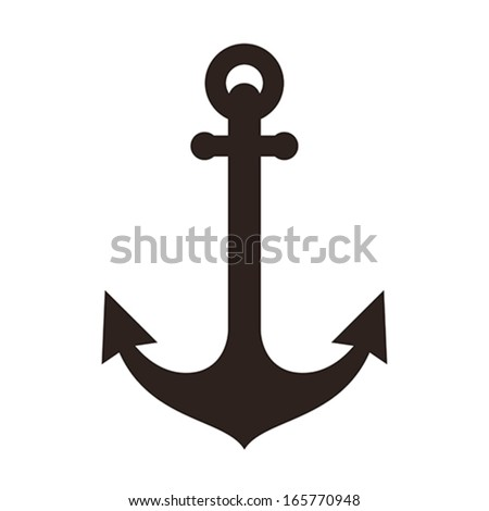 Anchor sign isolated on white background - stock vector