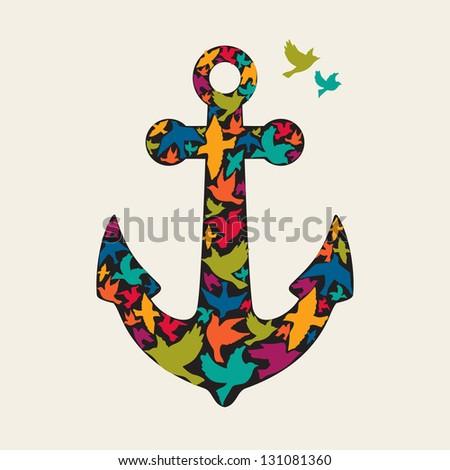 Anchor vector - stock vector
