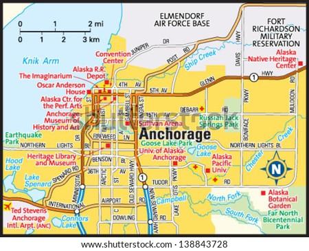 Anchorage Alaska Area Map