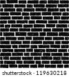 Ancient brick wall vector background - stock photo