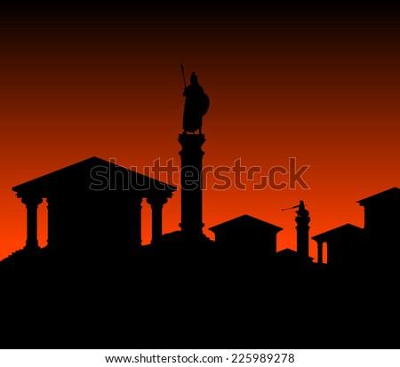 ancient city. vector illustration - stock vector