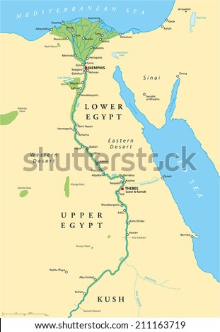 Ancient egypt map historical map ancient vectores en stock 211163719 ancient egypt map historical map of ancient egypt with most important sights with rivers gumiabroncs Images