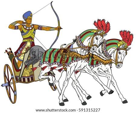 Ancient Chariot Stock Vectors, Images & Vector Art   Shutterstock