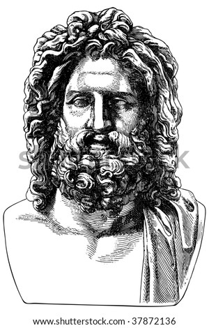 Ancient engraving of the Greek philosopher