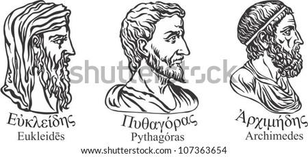 pythagoras and euclid write about