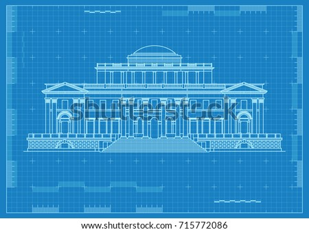 Ancient palace architectural drawing blueprint paper stock vector ancient palace architectural drawing blueprint paper malvernweather Image collections