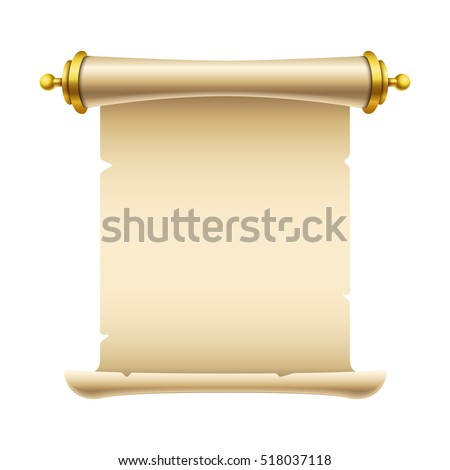 Ancient scroll illustration with place for your text. Eps10 vector template.
