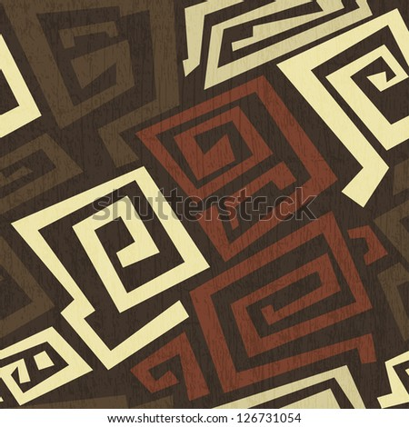 ancient seamless texture with grunge effect - stock vector