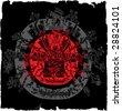 Ancient symbols of Mayan Indians Grunge Illustration - stock photo