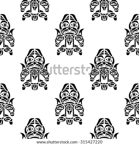 Ancient tribal people, ethnic ornament - stock vector