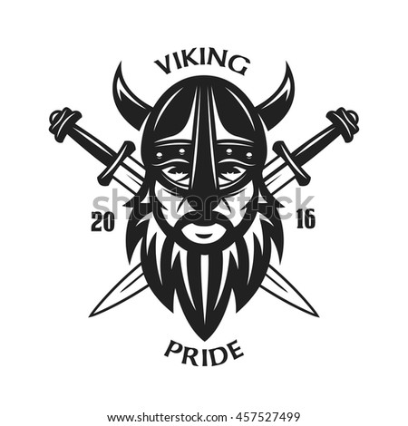 Ancient Viking Head Tshirt Graphics Design Stock Vector HD (Royalty ...