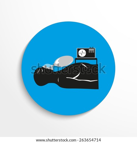 anesthesia flat icon illustration background