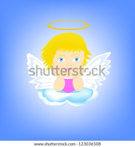 Angel - stock vector